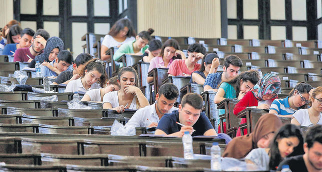 Students at a LYS exam at a school. The exam is the only way for millions to be admitted to colleges. Gülenist-run schools boasted in the past for the success of their students on those exams.