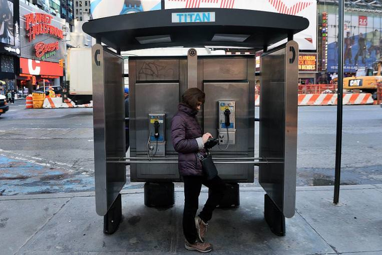 Thousands of high-tech terminals offering free Wi-Fi and other services will soon replace the city's remaining fleet of pay phones.(AFP Photo)