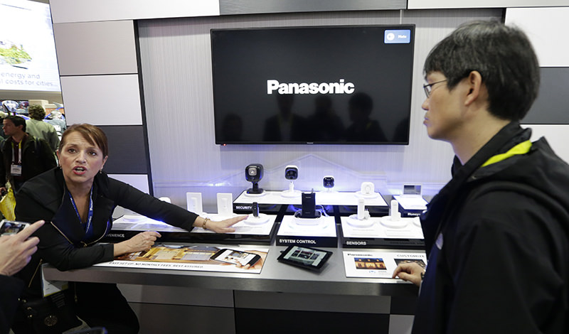 A Panasonic representative speaks about Panasonic Smart Home devices at CES International Wednesday, Jan. 6, 2016, in Las Vegas (AP Photo)
