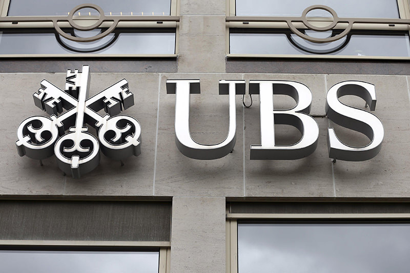 The logo of UBS bank is seen at its Belgian office in Brussels June 20, 2014. (REUTERS Photo)