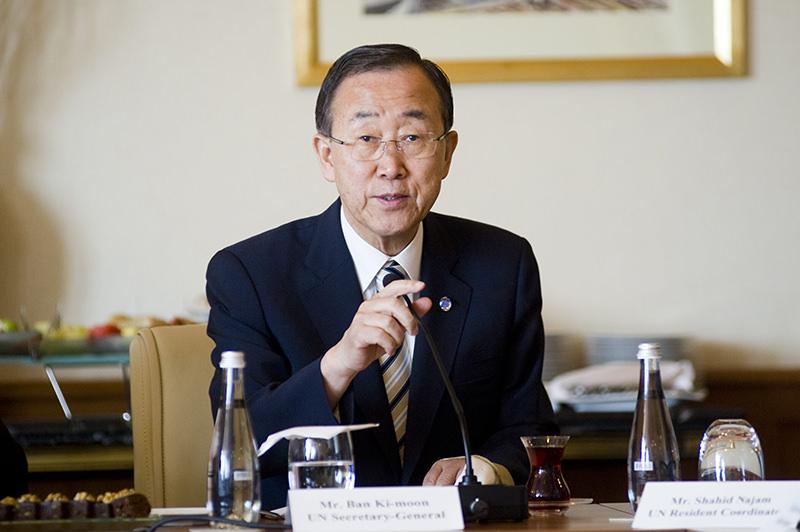 Photo shows United Nations leader Ban Ki Moon. (FILE PHOTO)