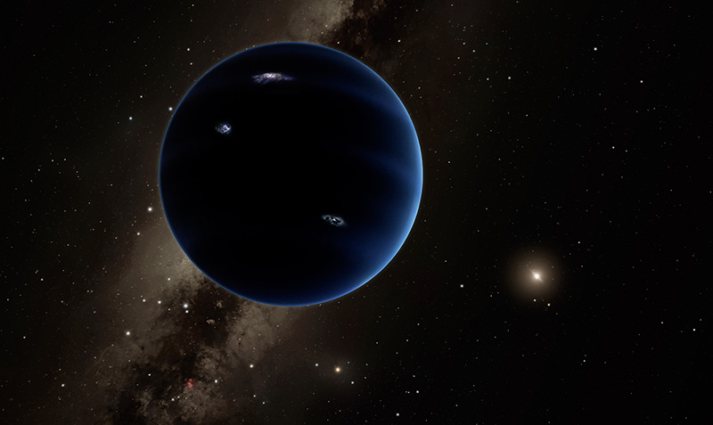This artistic rendering provided by California Institute of Technology shows the distant view from Planet Nine back towards the sun. (AP Photo)