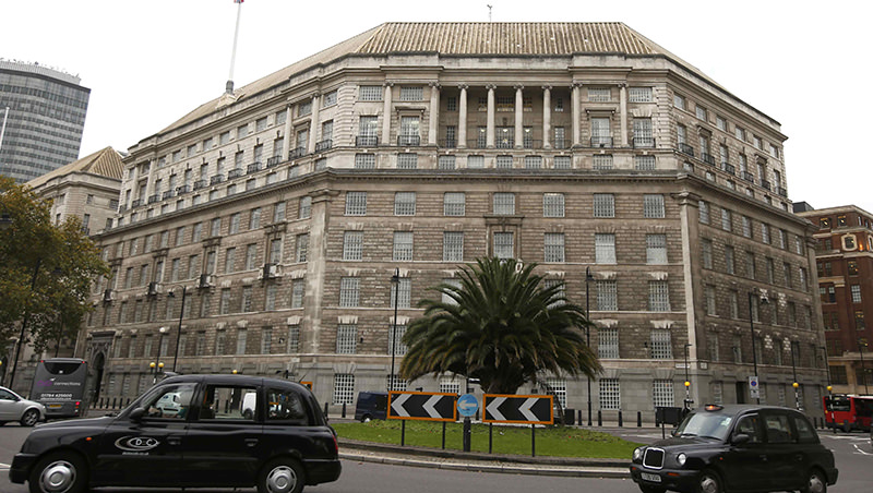 A file photograph shows Thames House, the headquarters of the British Security Service (MI5) in London, Britain October 22, 2015. (Reuters Photo)