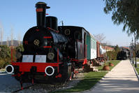 Steam locomotives open-air museum