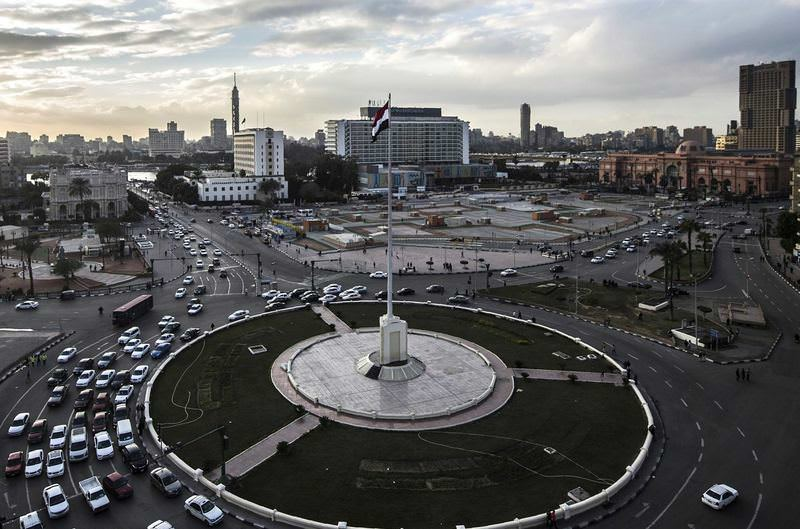 Tahrir Square, which was the center of the 2011 revolution, was empty on Monday as police prevented people from celebrating in the square.