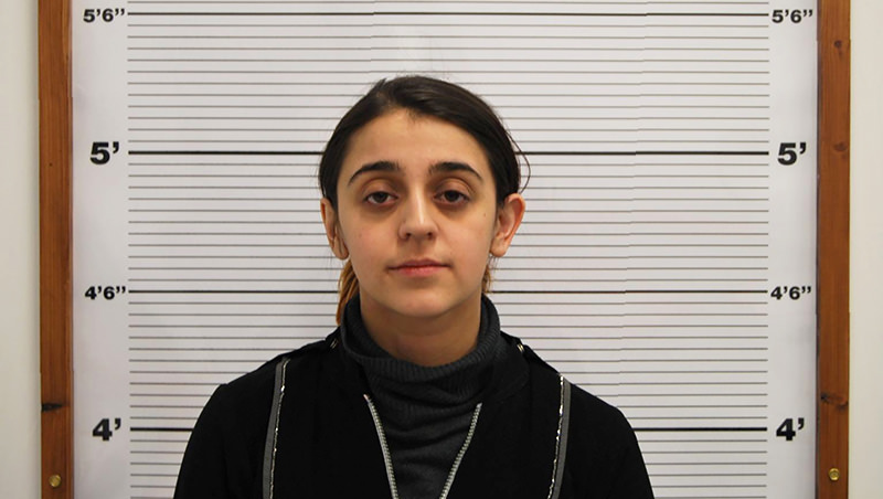 An undated handout photo released by West Midlands Police service and received in London on January 29, 2016, shows Tareena Shakil as she poses for a custody photograph (AFP Photo)