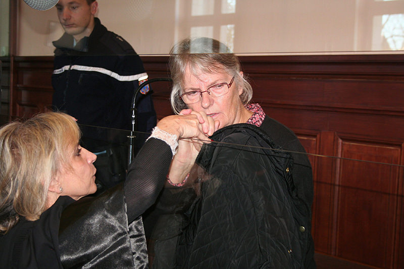 Sauvage has become a symbol of the scourge of domestic violence in France since she lost her appeal against her conviction for murder in December. (EPA Photo)