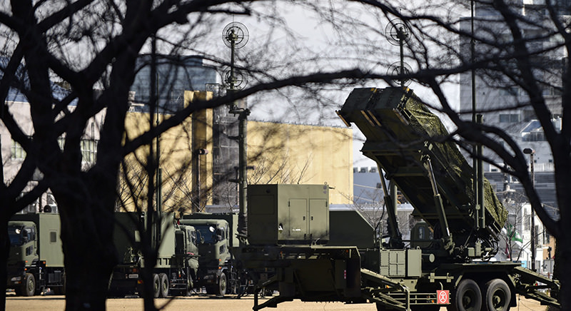 Japan's Ground Self-Defense Force Patriot Advanced Capability-3 (PAC-3) missile interceptor unit is deployed to counter North Korea's possible launch of ballistic missile at the Defense Ministry in Tokyo (EPA Photo)
