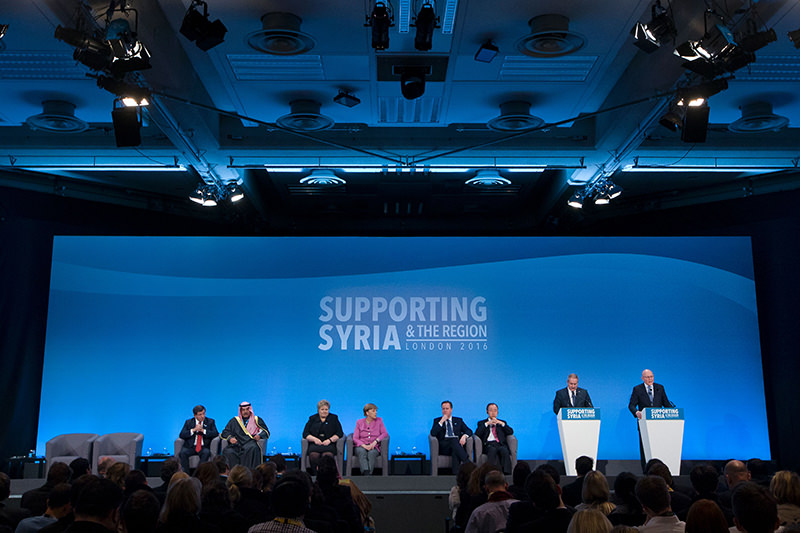 The Syria donors' conference in London raised over $10 billion for humanitarian aid. (AFP Photo)