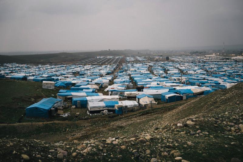 Kawergosk refugee camp in Northern Iraq.