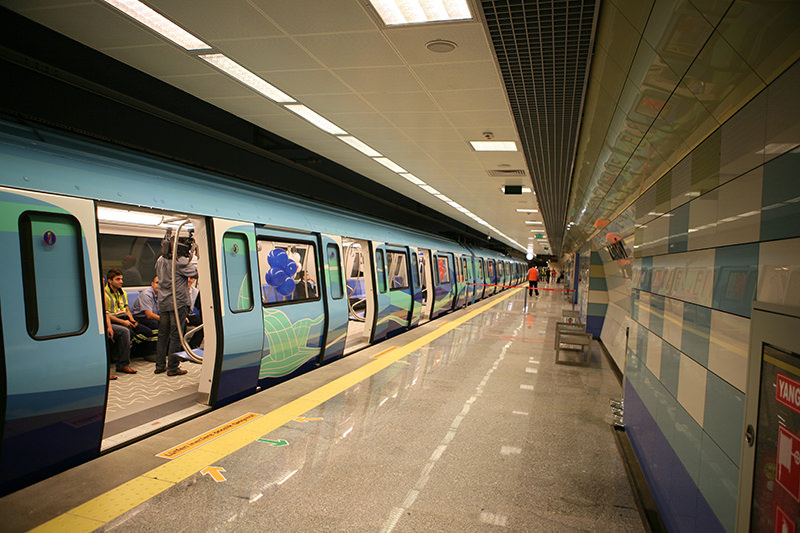 Photo shows the Kadu0131ku00f6y-Kartal metro line in Istanbul. (FILE Photo)