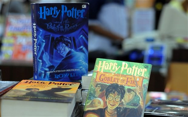 Harry Potter books on display in a shop. (AFP Photo)