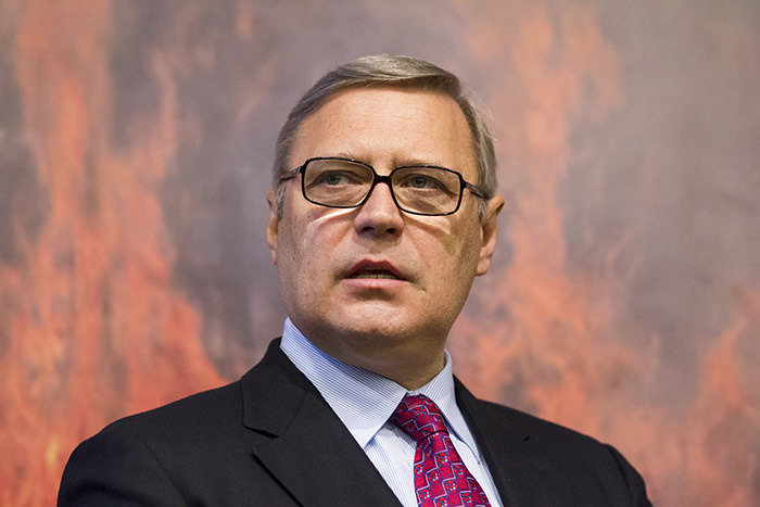 Russian opposition figure, former Russian Prime Minister Mikhail Kasyanov (AP Photo)
