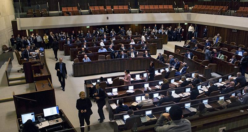 A general view during a voting session at the Israeli parliament Knesset in Jerusalem, Israel, 08 February 2016 (EPA Photo)