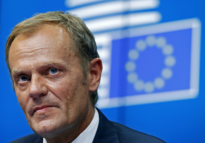 European Council President Donald Tusk attends a news conference during an EU summit in Brussels in this August 30, 2014 file photo. (REUTERS Photo)
