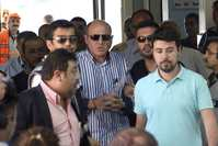 Ali Fuat Yılmazer (C), a former police chief, is among the prominent defendants in the trial who are accused of wiretapping the phones of bureaucrats, journalists, celebrities, businesspeople and others.