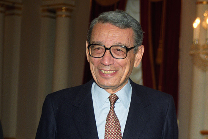 A file picture dated 28 June 1993 shows United Nations Secretary General Boutros Boutros-Ghali in Kiev, Ukraine.