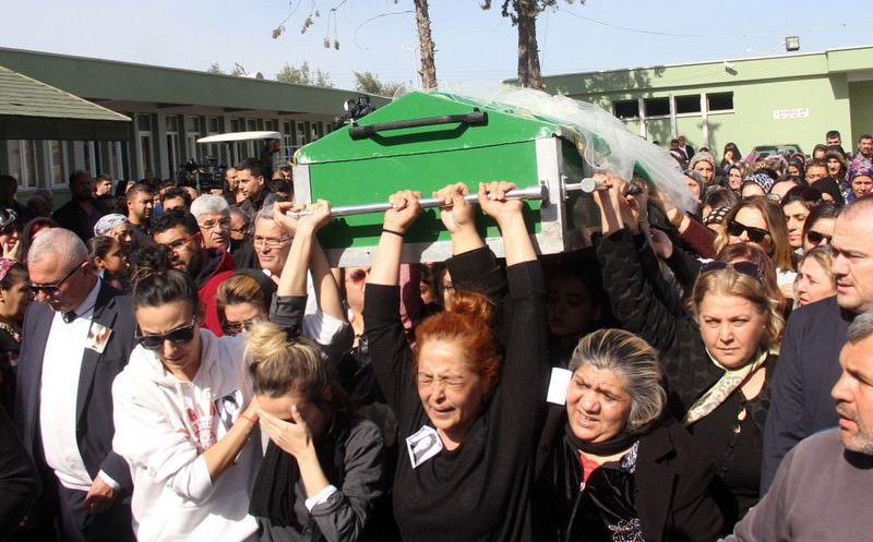 Women carry the coffin of Tu00fcrkan Saru0131kaya in the southern city of Adana on Feb. 16. Saru0131kaya was killed when she refused the advances of a man who was obsessed with her and was the latest victim of violence targeting women.
