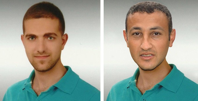 Şafak İnan's photo (L) was manipulated and served as Zınar Reperin (R) on TAK's website