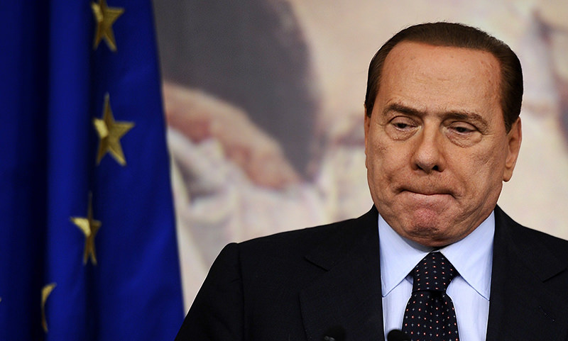 A file photo taken on October 22, 2010 shows former Italian Prime Minister Silviou00a0Berlusconiu00a0looking on during a press conference in Rome's Palazzo Chigi (AFP Photo)