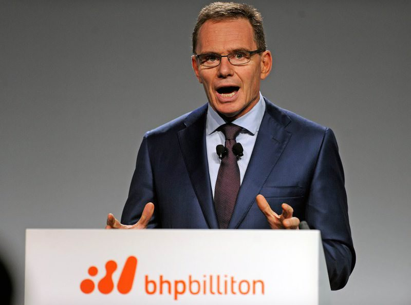 Anglo-Australian multinational mining, metals and petroleum company BHP Billiton CEO, Andrew Mackenzie, attends the Investor and Analyst Briefing, during the company's half year results in Melbourne.