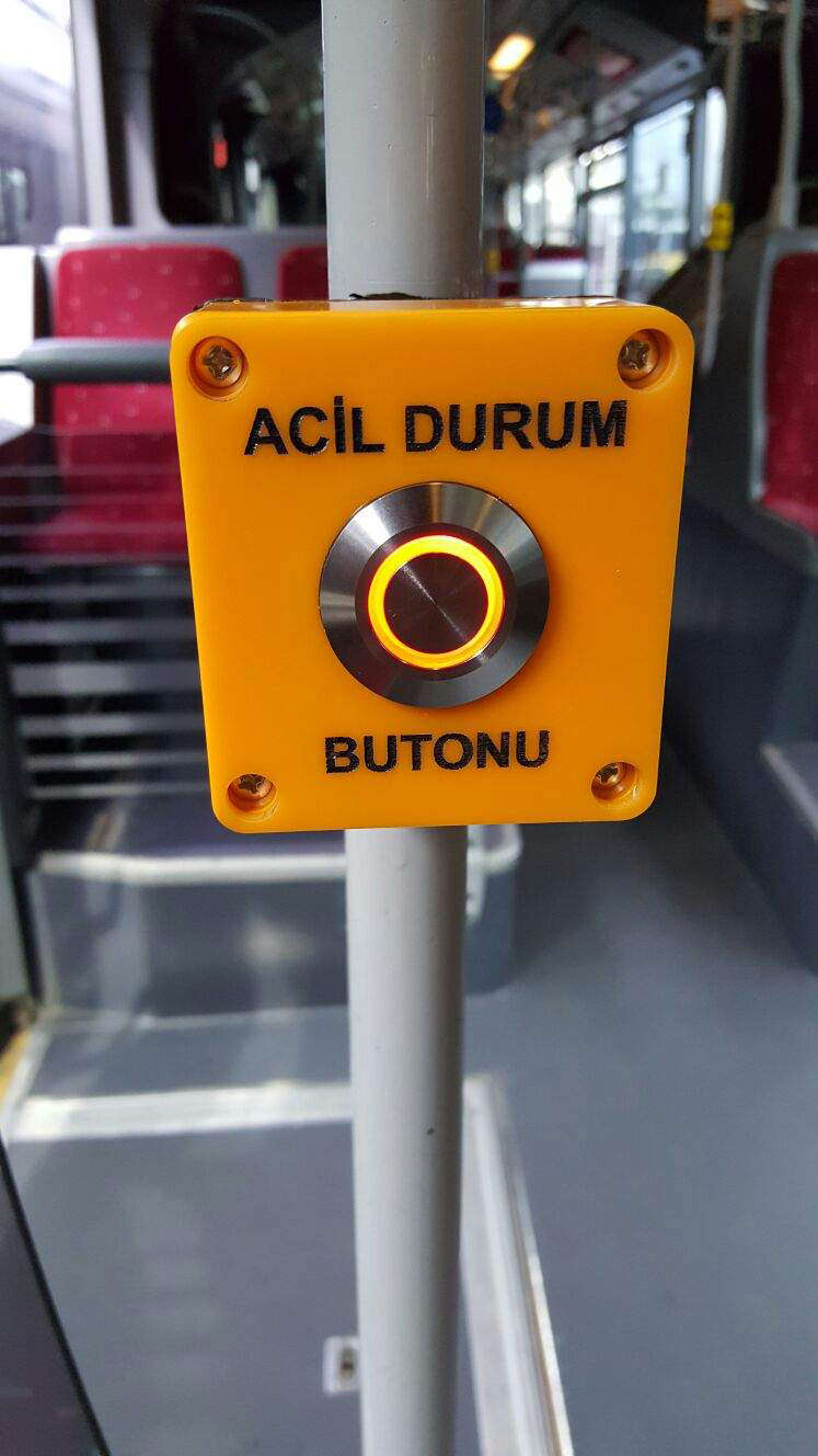For now, 'panic buttons' are only available on metrobuses.