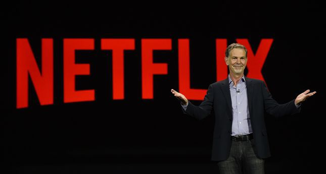 Netflix CEO Reed Hastings delivers a keynote address at CES 2016 at The Venetian Las Vegas on January 6, 2016 in Las Vegas, Nevada. (AFP Photo)