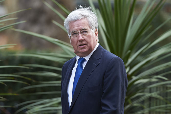 British Defense Secretary Michael Fallon (AFP Photo)