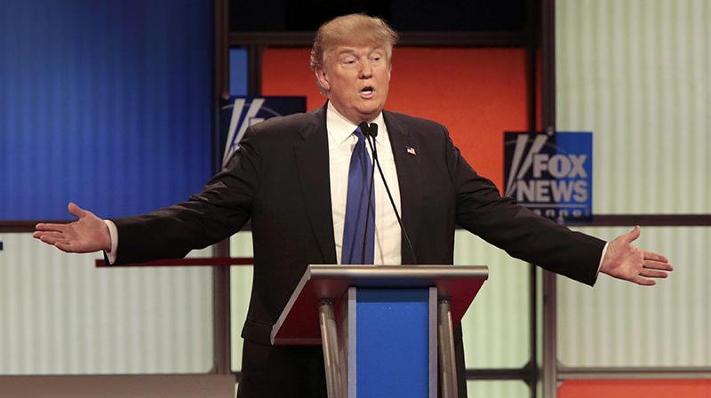 Republican U.S. presidential candidate Donald Trump speaks at the U.S. Republican presidential candidates debate in Detroit, Michigan (Reuters Photo)
