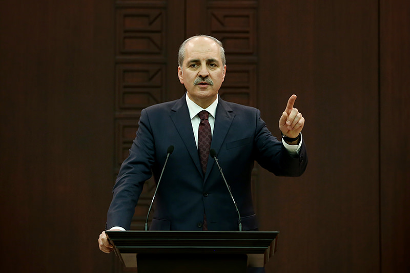 Deputy Prime Minister Numan Kurtulmuu015f has reiterated Turkey's rejection of the idea of partitioning war-torn Syria. (AA Photo)