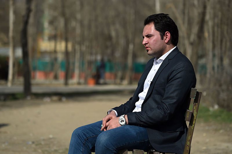 In this photograph taken on March 1, 2016, Abdul Ghafoor Aryan, 24, looks on as he speaks during an interview with AFP at the Hisa-i-Awali Khair Khana Park in Kabul (AFP)