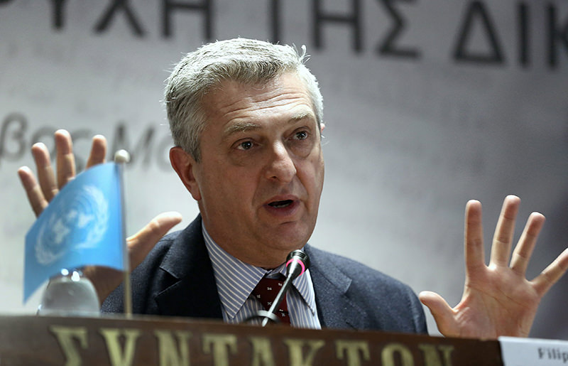 United Nations High Commissioner for Refugees, Filippo Grandi speaks during a press conference in Athens, Greece, 24 February 2016. (EPA Photo)