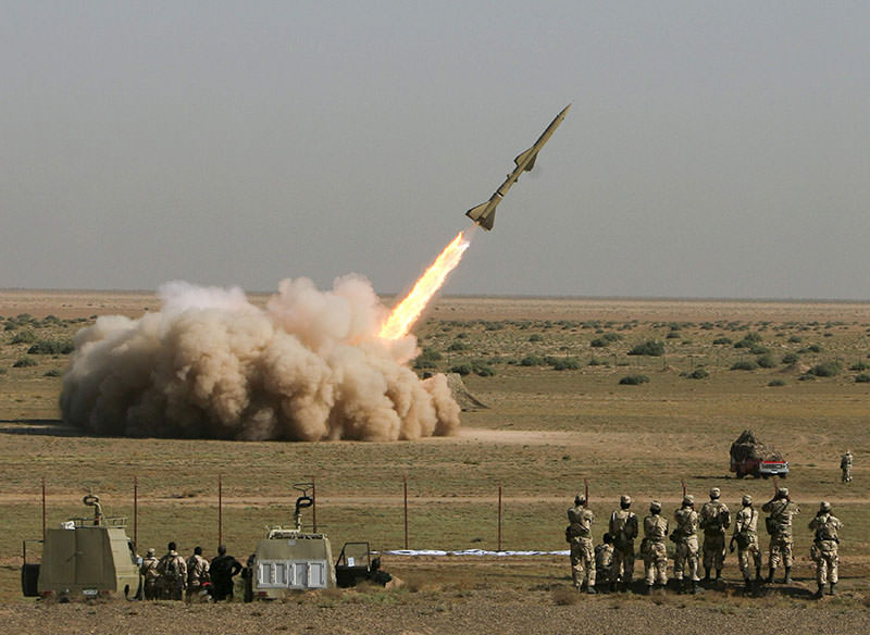 An Iranian Tondar missile is launched during a test at an unknown location in central Iran September 27, 2009 (Reuters)