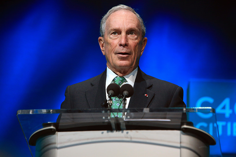 In this Dec. 3, 2015, file photo, former New York mayor Michael Bloomberg speaks during the C40 cities awards ceremony in Paris. (AP Photo)