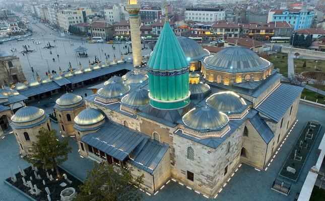 Shrine of Rumi in central Anatolian Konya province