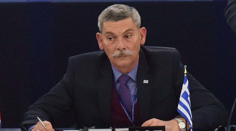 A picture made available on 09 March 2016 showing Eleftherios Synadinos from Greece listening to a speech during the plenary session at European Parliament in Strasbourg, France, 08 March 2016. (EPA Photo)