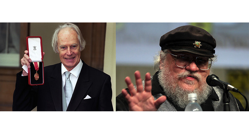 L: Sir George Martin, record producer, R: George RR Martin, Game of Thrones creator