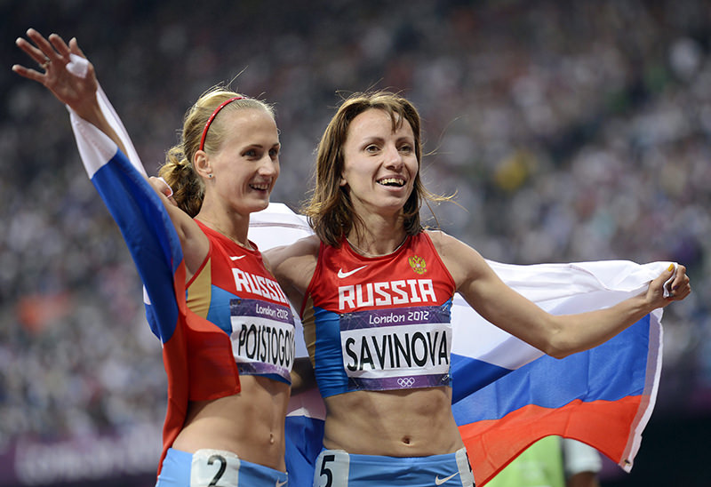 Both athletes are among the five Russian runners targeted for a lifetime ban recommended by an independent World Anti-Doping Agency (WADA) commission. (EPA Photo)