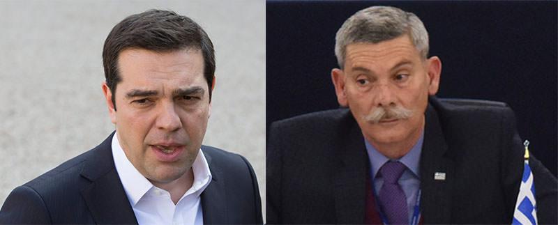 Alexis Tsipras [L], Eleftherios Synadinos [R]