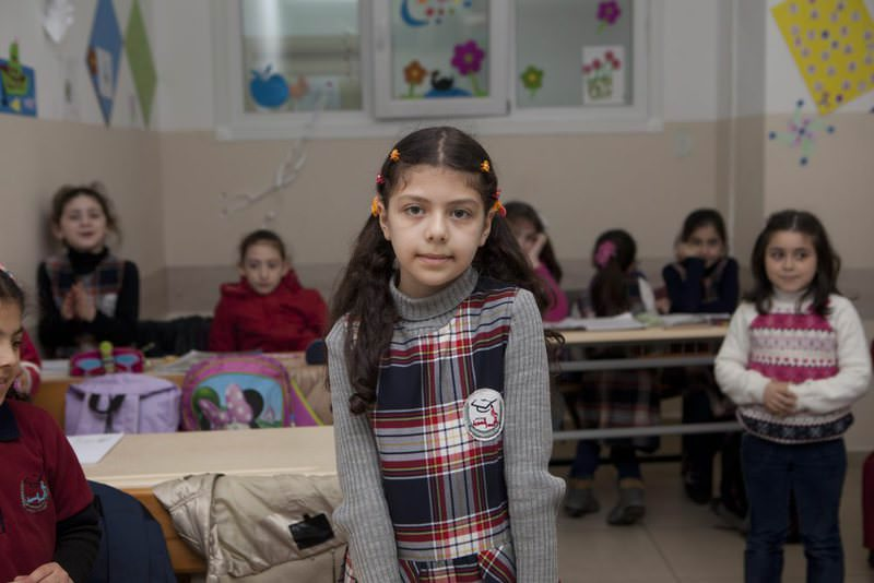Syrian children at a school in Istanbul.