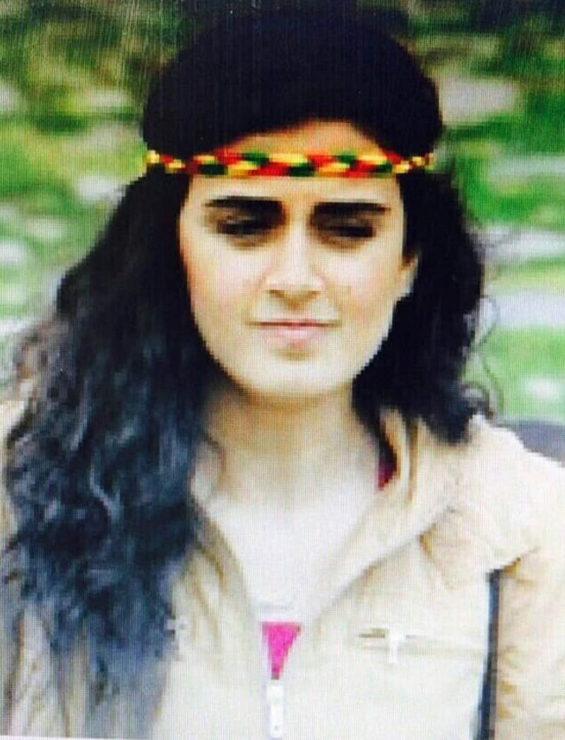 Demir is wearing a headband made of PKK's colors. (Sabah Photo)