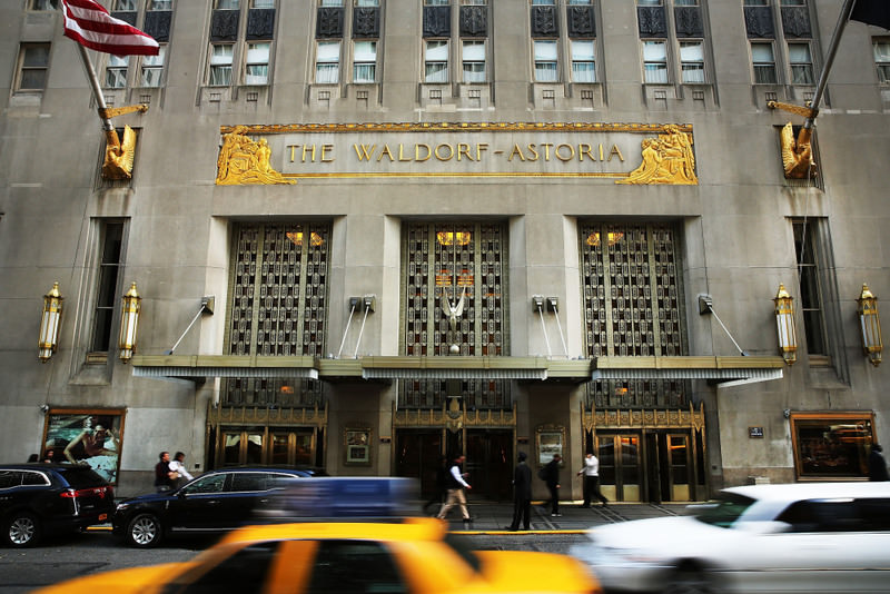 Anbang, which once specialized in car insurance, stormed onto the international property market last year by acquiring New York City's Waldorf-Astoria Hotel for nearly $2 billion. (AFP Photo)