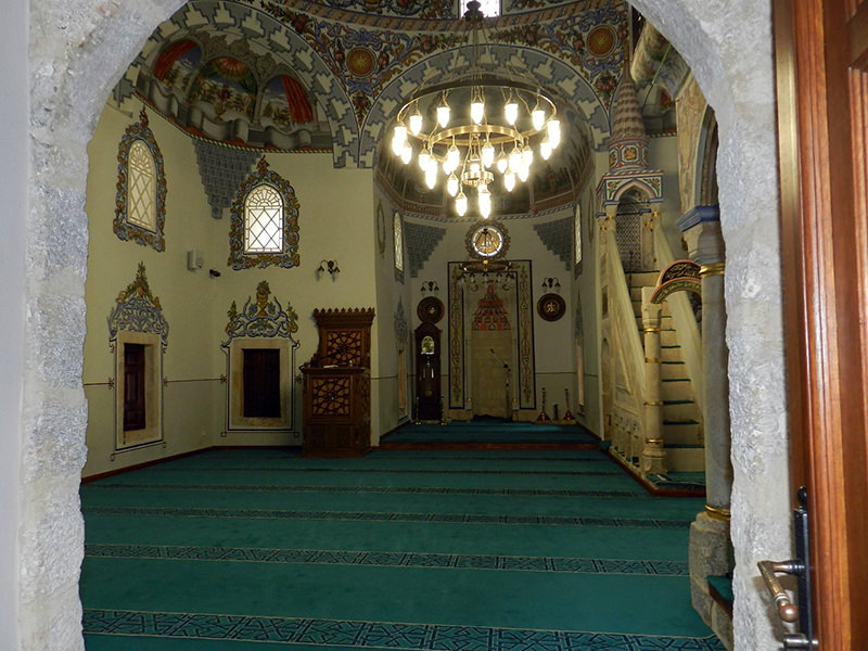 Kosovo's restored historic Emin Pasha Mosque. (IHA Photo)
