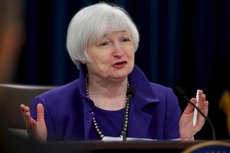 U.S. Federal Reserve Chairman Janet Yellen holds a news conference to announce raised interest rates in Washington, on December 16, 2015. (REUTERS Photo)