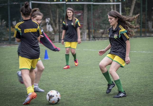 Turkish women's football team: 'This is our game too'