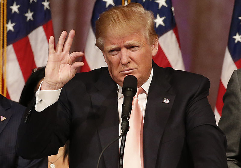 Donald Trump addresses a press conference following his victory in the Florida state primary on March 15, 2016 in West Palm Beach, Florida (AFP)