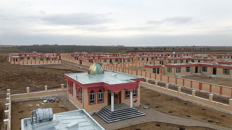 Houses built in Afghanistan for 28 families by Tu0130KA. The agency showcased the project and 52 others it undertook last year as well as those it will launch this year.