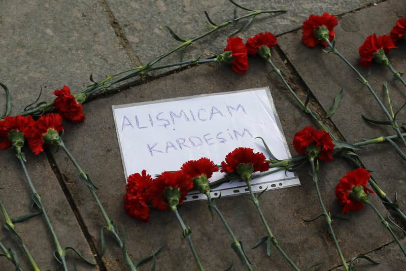 People left carnations and a paper that says: ,I am not going to get used to it,, near the scene of the explosion that killed 35 civilians in Ankara.