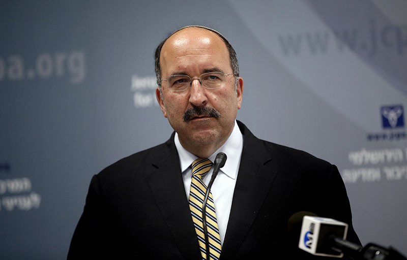 sraeli director general of foreign affairs, Dore Gold, delivers a speech on June 1, 2015, in Jerusalem. (AFP Photo)