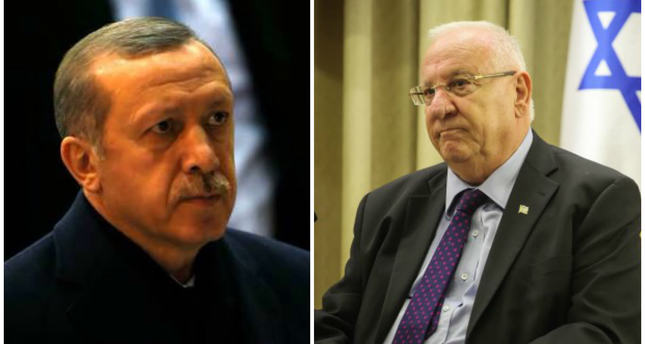 President Erdoğan offers condolences to Israeli counterpart Rivlin for Istanbul attack victims